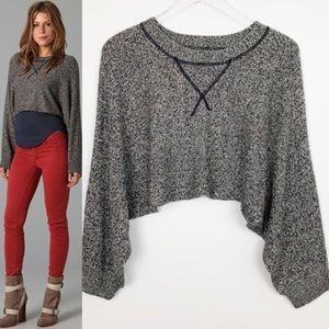 AIKO Anthro cashmere blend crop sweater SZ medium